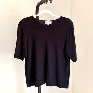 Pendleton Top Vintage Black Knit Sweater Blouse